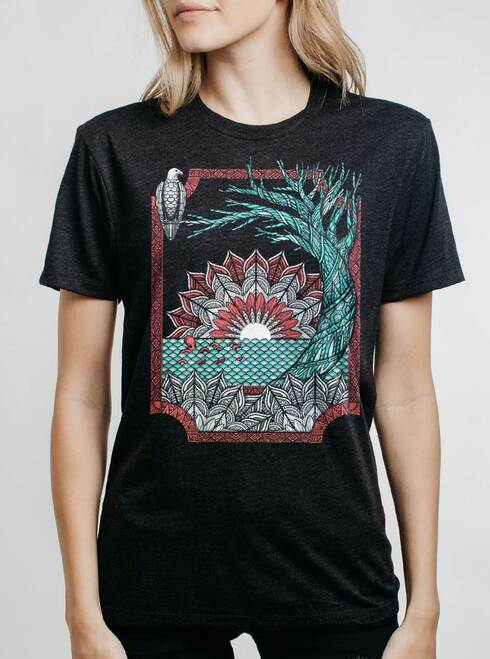 Octo & Eagle - Multicolor on Heather Black Triblend Womens Unisex T Shirt