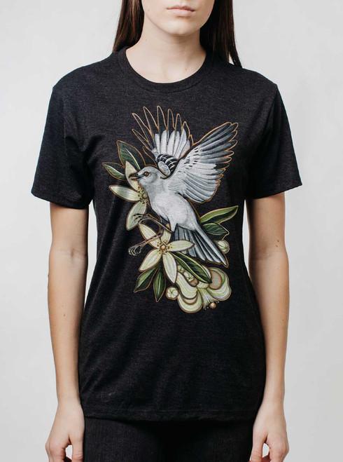 Mockingbird - Multicolor on Heather Black Triblend Womens Unisex T Shirt