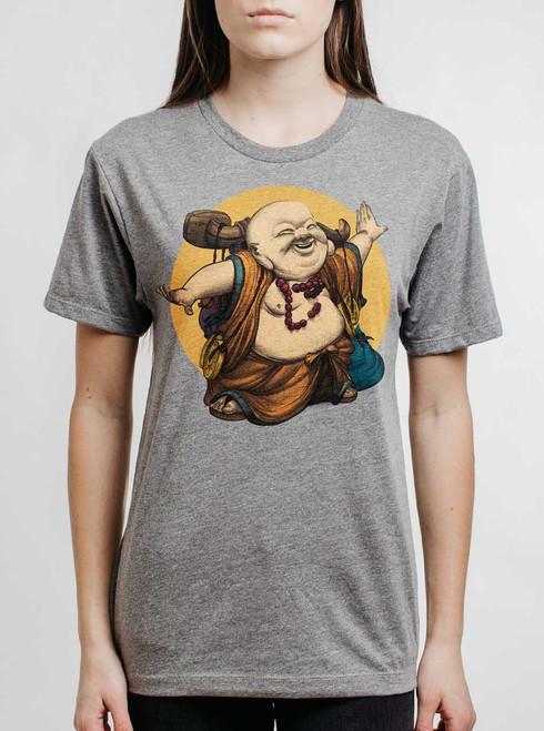 Little Buddha - Multicolor on Heather Grey Triblend Womens Unisex T Shirt