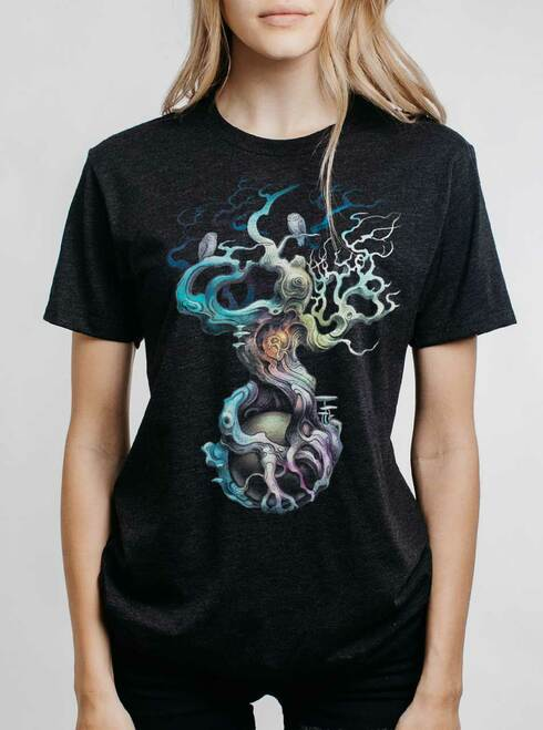 Heart of the Matter - Multicolor on Heather Black Triblend Womens Unisex T Shirt