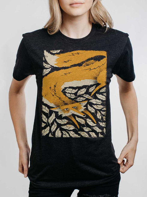 Fox in the Henhouse - Multicolor on Heather Black Triblend Womens Unisex T Shirt