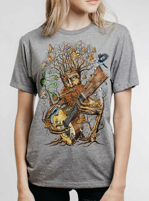 Forest Jam - Multicolor on Heather Grey Triblend Womens Unisex T Shirt