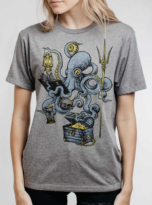 Evolution - Multicolor on Heather Grey Triblend Womens Unisex T Shirt