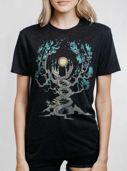 Emergence - Multicolor on Heather Black Triblend Womens Unisex T Shirt