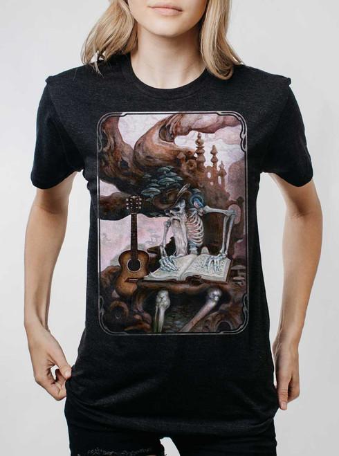 Dead Balladeer - Multicolor on Heather Black Triblend Womens Unisex T Shirt