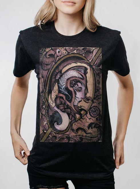 Athena - Multicolor on Heather Black Triblend Womens Unisex T Shirt