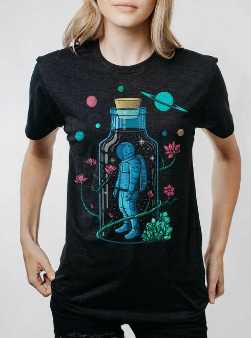 Astro Sauce - Multicolor on Heather Black Triblend Womens Unisex T Shirt