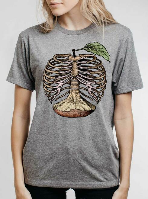 Apple a Day - Multicolor on Heather Grey Triblend Womens Unisex T Shirt