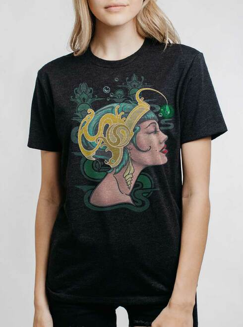 Allure - Multicolor on Heather Black Triblend Womens Unisex T Shirt