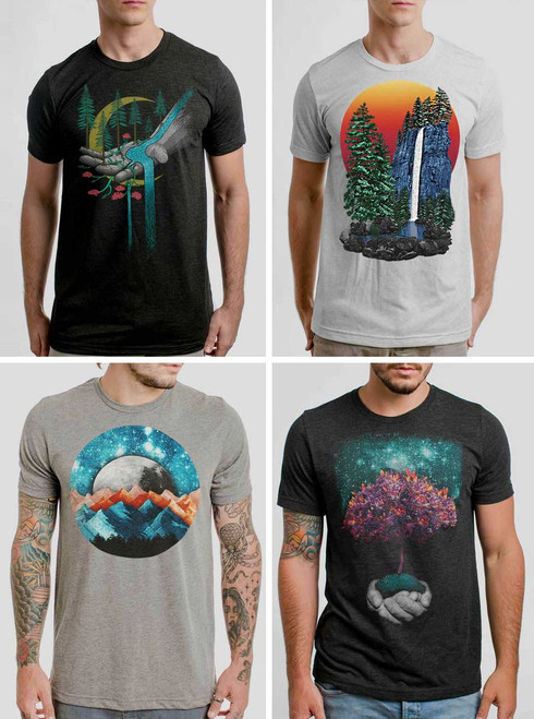 Nature Pack - 4 Triblend Nature T Shirts