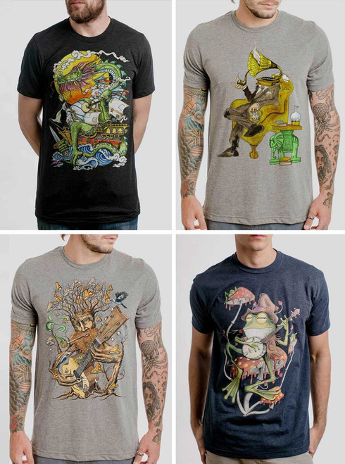 Music Pack - 4 Triblend Music T Shirts