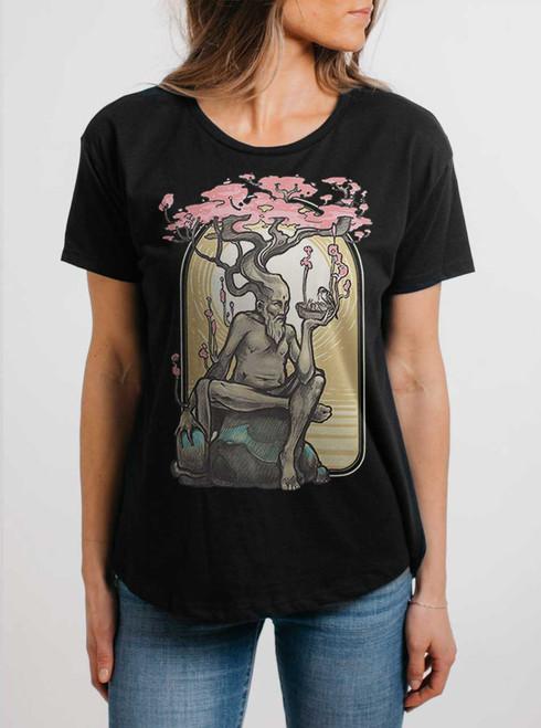 Dryad - Multicolor on Black Womens Boyfriend T Shirt