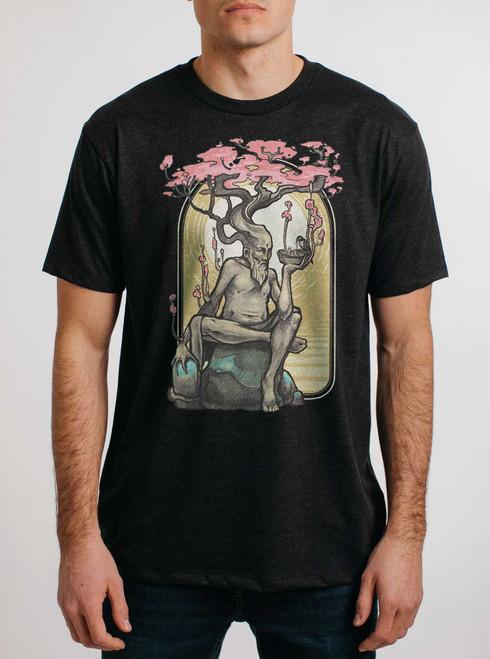 Dryad - Multicolor on Heather Black Triblend Mens T Shirt