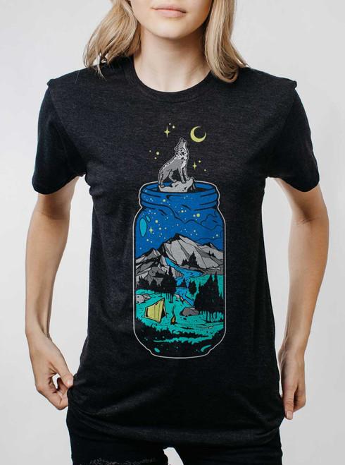 Mountain Jar - Multicolor on Heather Black Triblend Womens Unisex T Shirt