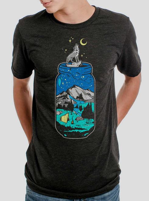 Mountain Jar - Multicolor on Heather Black Triblend Mens T Shirt