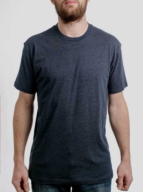 Heather Navy Crew - Blank Men's T-Shirt