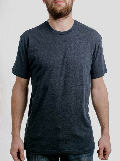 Heather Navy Crew - Blank Men's T-Shirt
