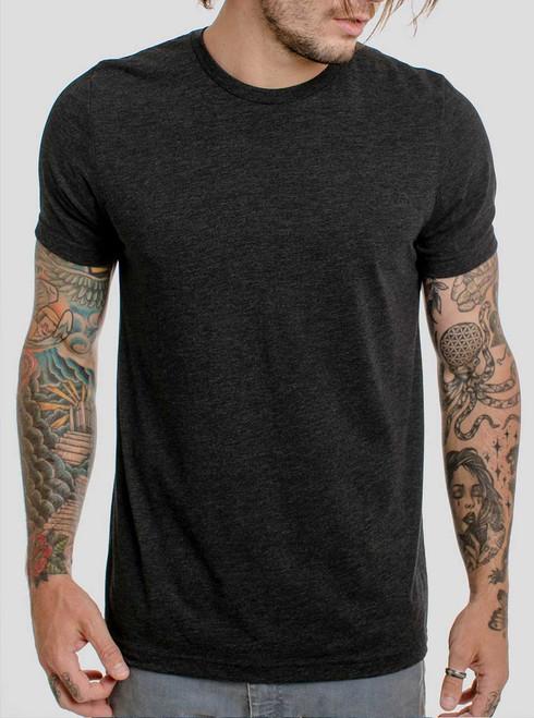 Heather Black Triblend - Blank Men's T-Shirt