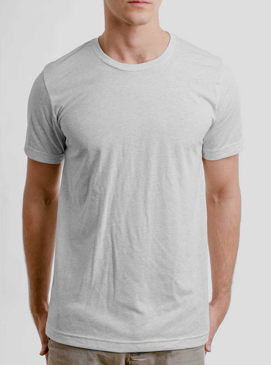 grey t shirt mens