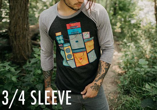 Men's 3/4 Sleeve Shirts