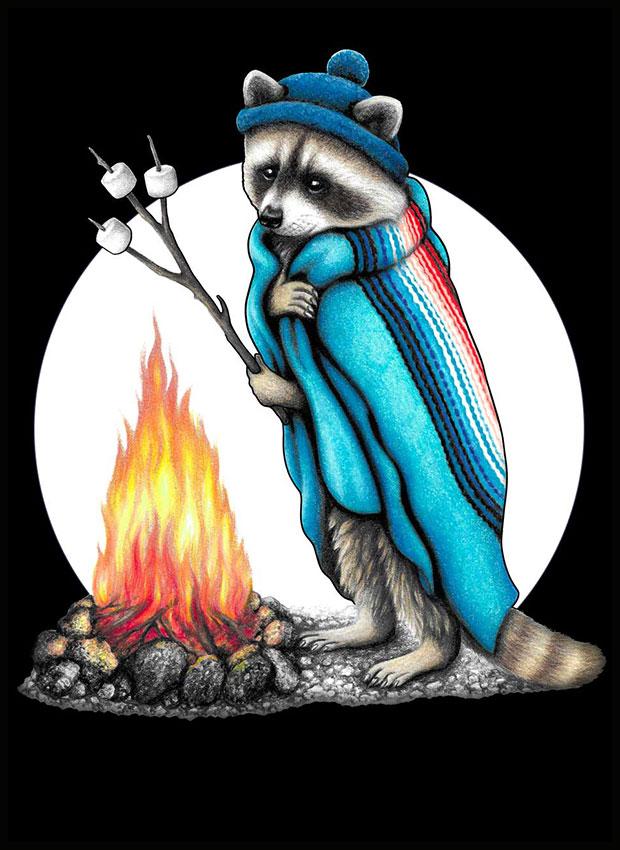 Roasting Raccoon