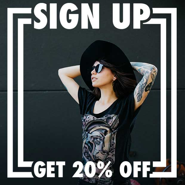 Sign Up for 20% OFF