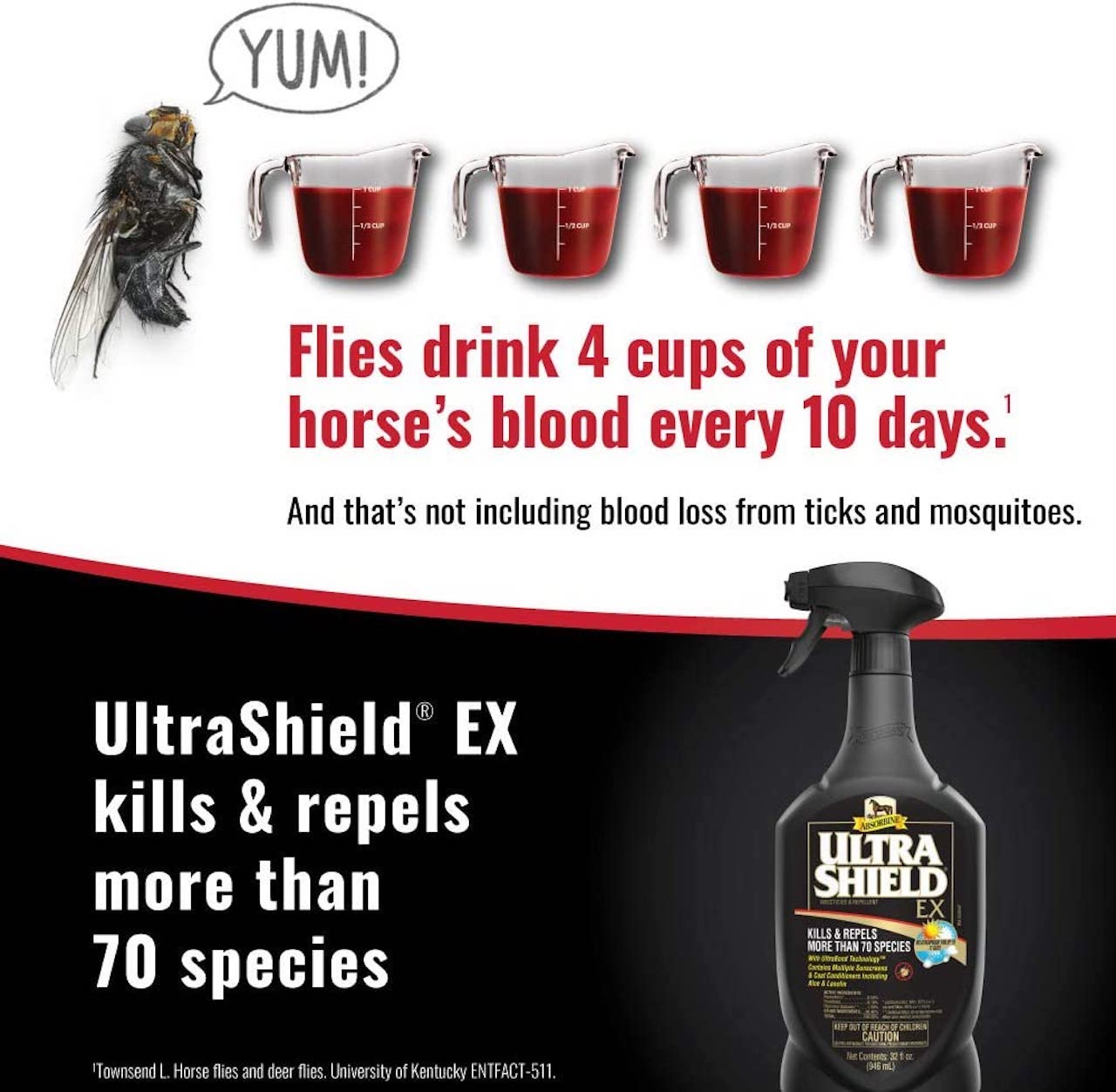 Absorbine UltraShield® EX Brand Residual Insecticide and Repellent (32 oz)