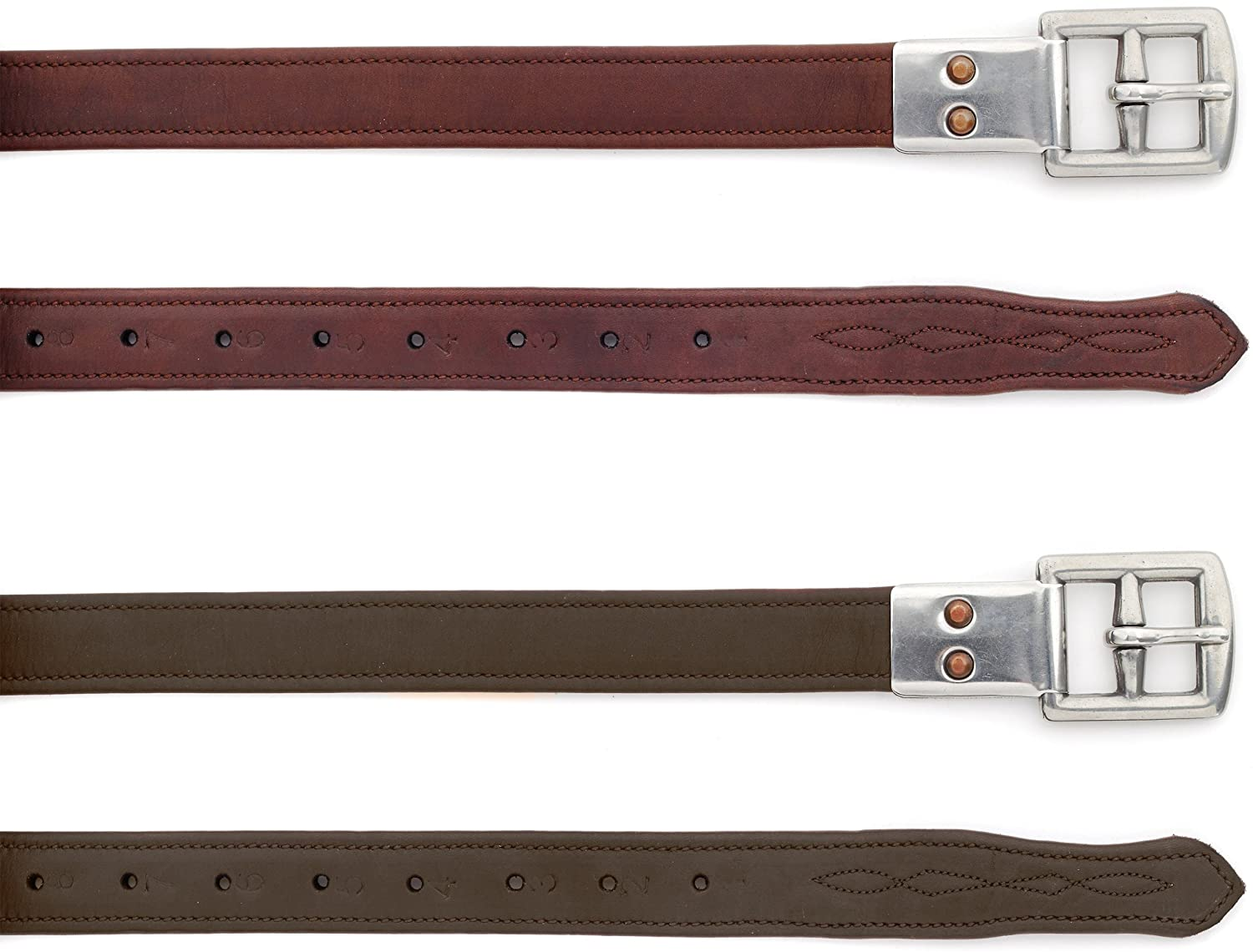 Ovation® Covered Stirrup Leathers with Metal Clasp