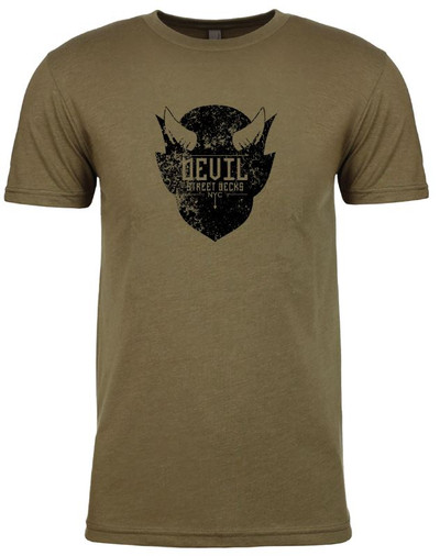 Distressed Logo T-Shirt (Army Green)