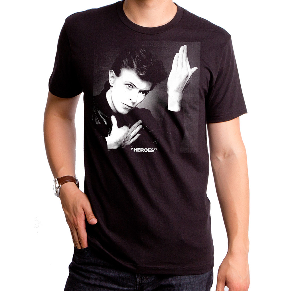 077de36ddca2 David Bowie Heroes Men's T-Shirt, David Bowie T-Shirt