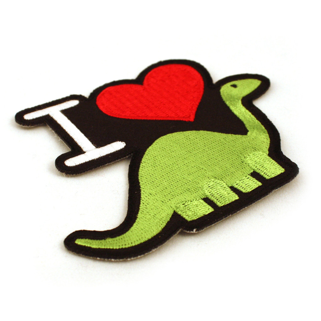 I Heart Dino Iron-On Patch