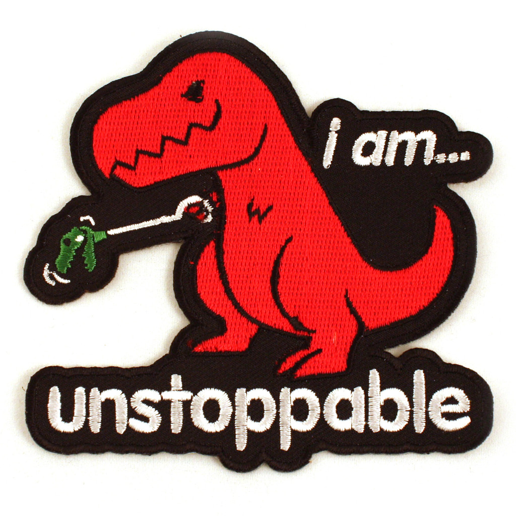 Unstoppable Dino Iron-On Patch