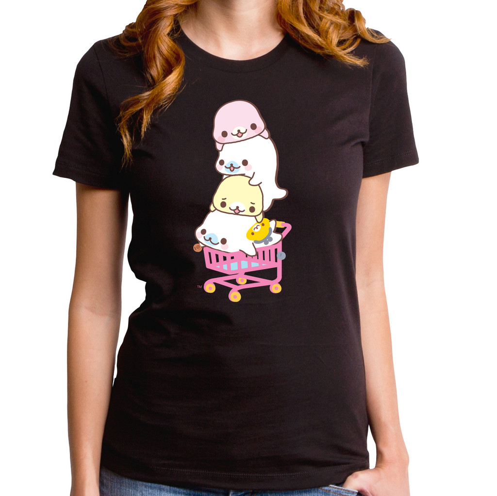 Mamegoma Shopping Cart Girls T-Shirt