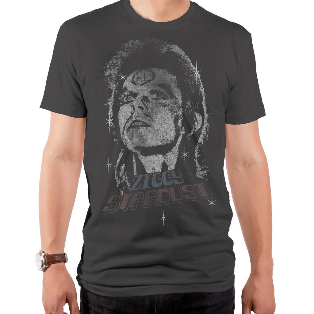 David Bowie Grey Men/'s T-Shirt S