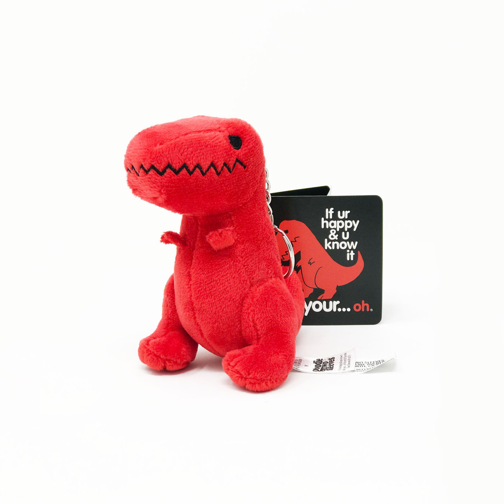 Sad T-Rex Dino Plush Mini Keychain