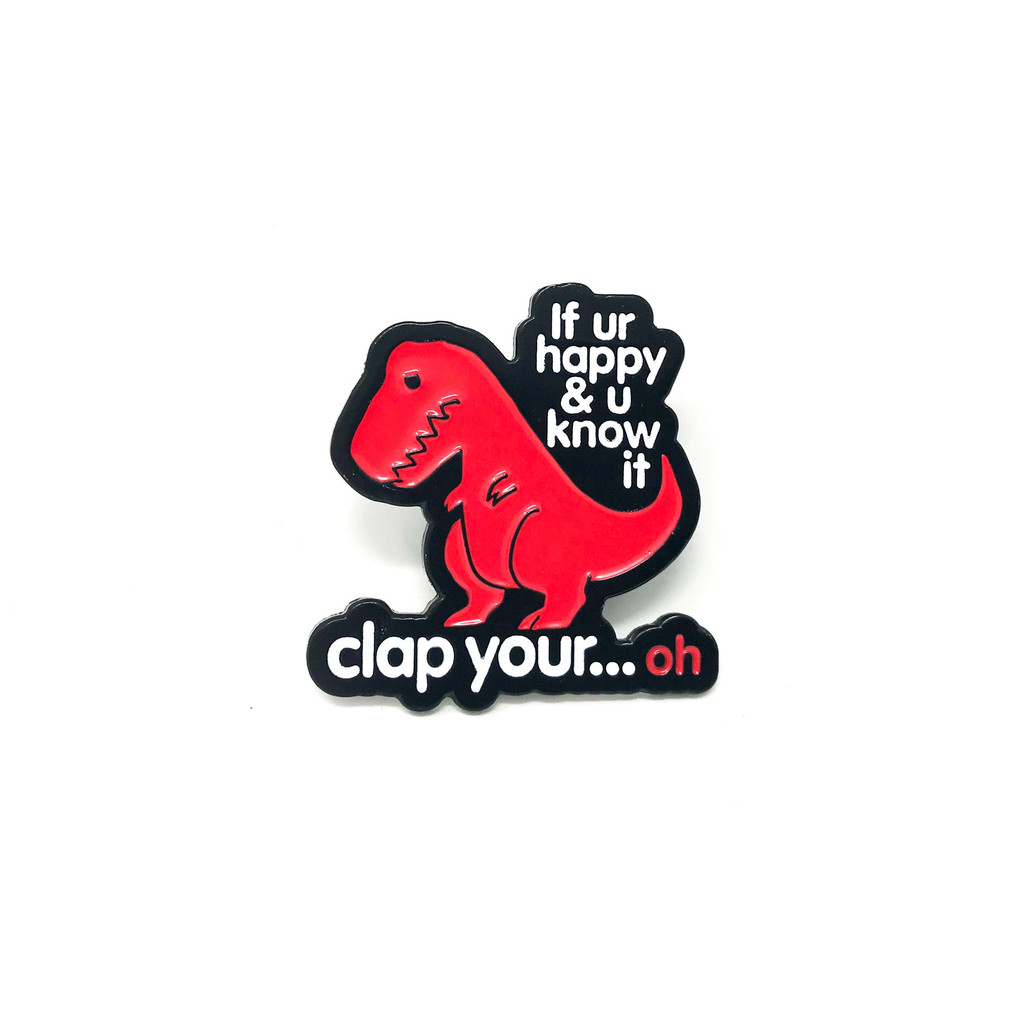 Clap Your Oh Dino Lapel Pin