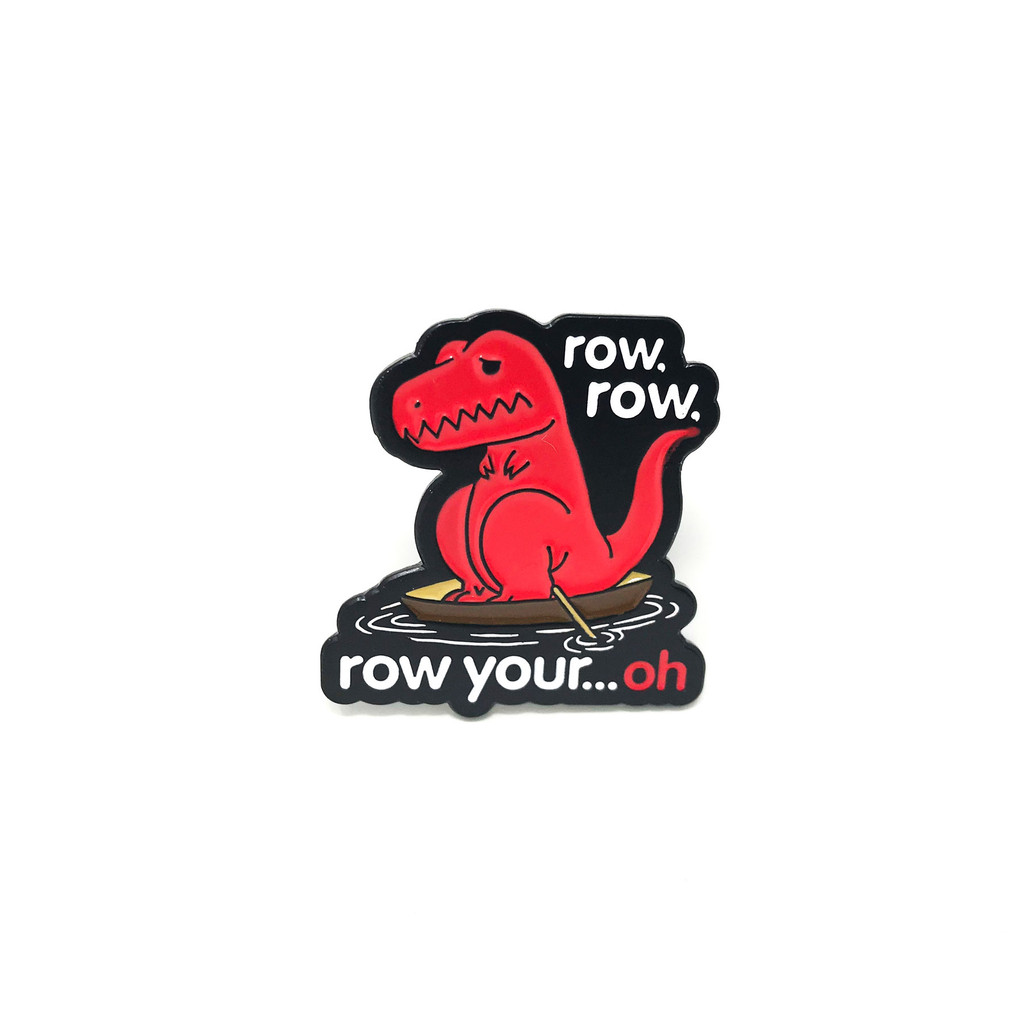 Row Your Oh Dino Lapel Pin