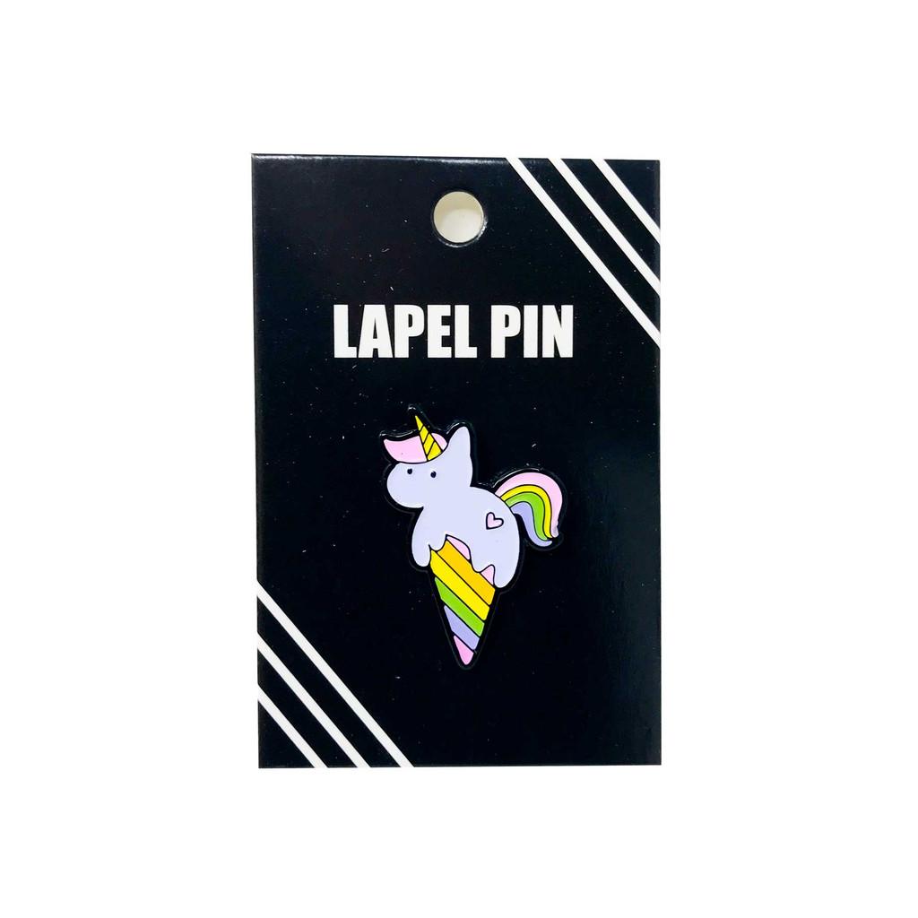 Unicorn Ice Cream Lapel Pin