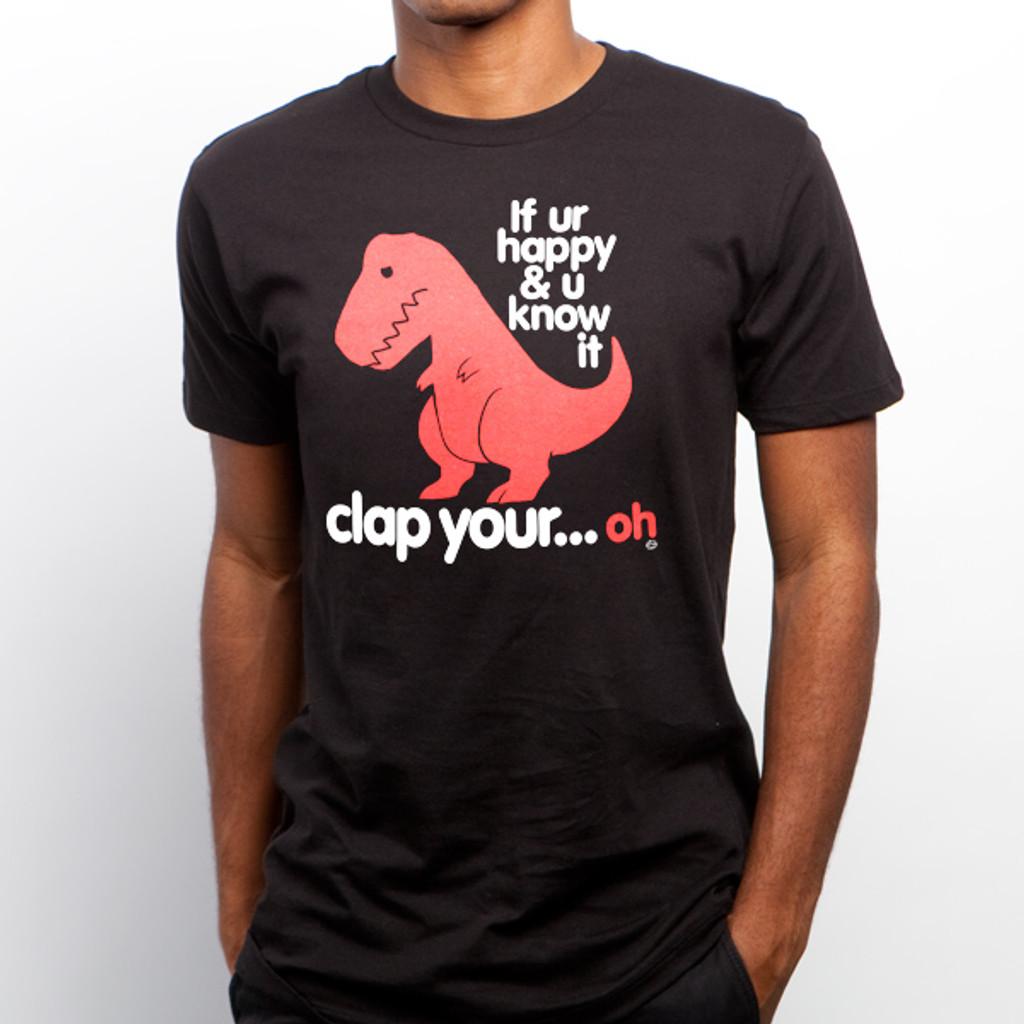 Sad T-Rex Clap Your Oh Dino T-Shirt