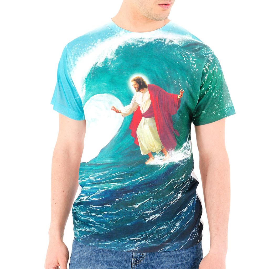 1f211114 Surfing Jesus T Shirt, Surfing Jesus, Funny Jesus Shirt - Goodie Two Sleeves
