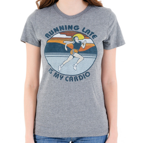 Running Late Is My Cardio Girls T-Shirt