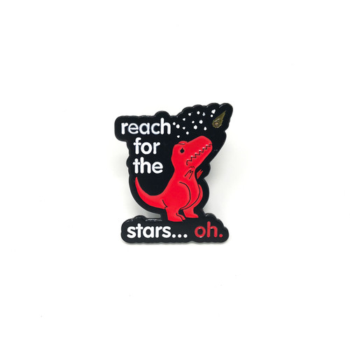 Reach For The Stars Dino Lapel Pin