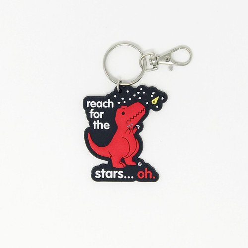 Reach For The Stars Dino Rubber Keychain