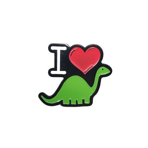 I Love Dino Lapel Pin