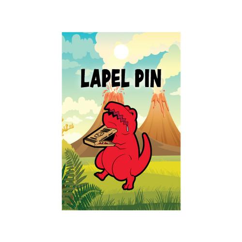 Pizza Dino Lapel Pin