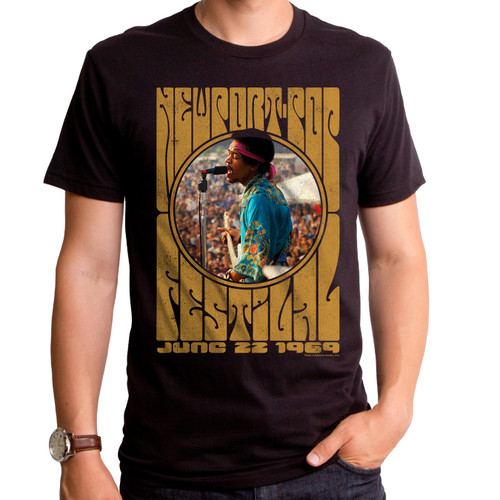 Jimi Hendrix Newport Pop T-Shirt