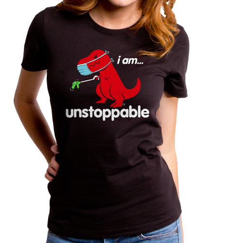 Unstoppable Mask Protect Yourself Girls T-Shirt