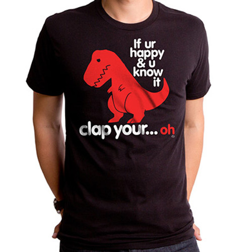 Sad T-Rex Clap Your Oh Dino T-Shirt