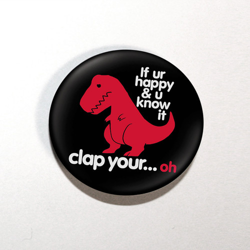 "Sad T-Rex Dino 1.25"" Button"
