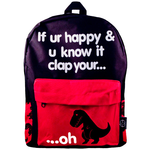 Sad T-Rex Clap Your Oh Dino Backpack